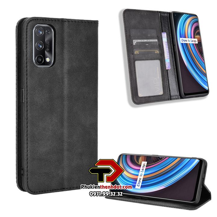Bao da dạng ví Realme 7 Pro Wallet Leather Case