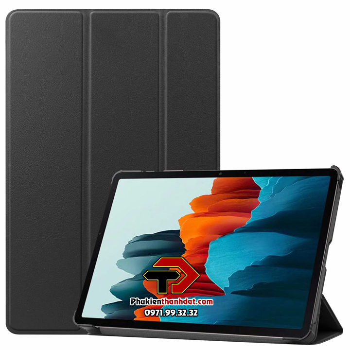 Bao da chống sốc SamSung Galaxy Tab S7 T870 Leather Smart Case dạng cuộn