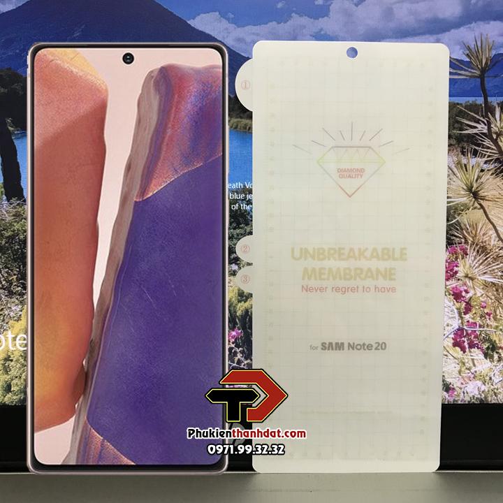 Dán full màn hình PPF SamSung Galaxy Note 20 chống xước