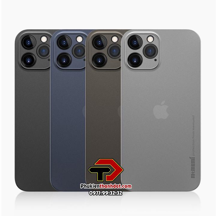 Ốp lưng lụa iPhone 12 Pro Max chính hãng Memumi siêu mỏng bảo vệ Camera
