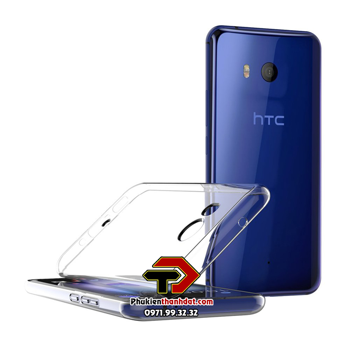 Ốp lưng HTC U11 silicone dẻo trong suốt