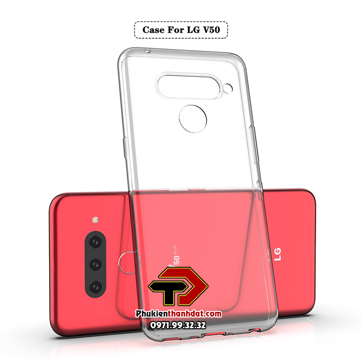 Ốp lưng LG V50 silicone dẻo trong suốt