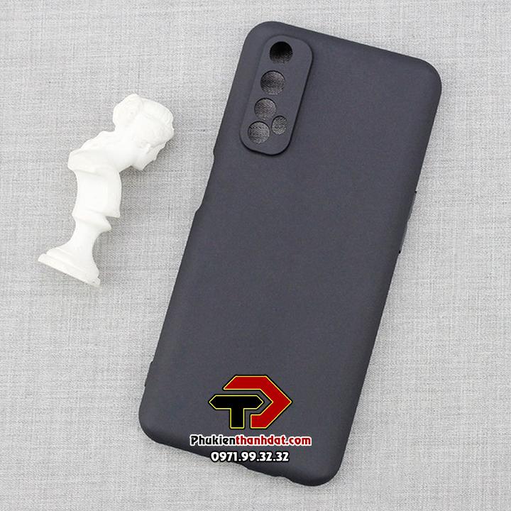 Ốp lưng Realme 7 silicone dẻo màu đen
