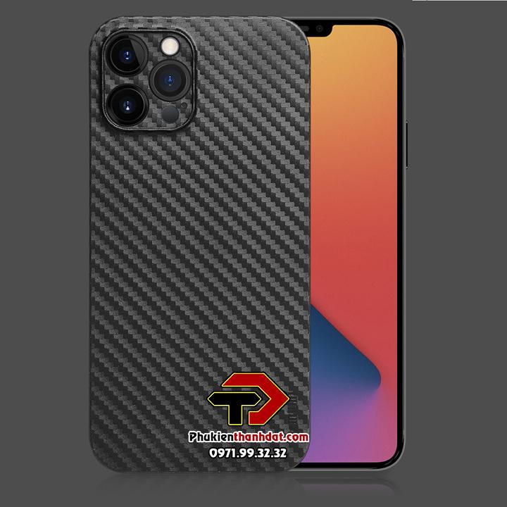 Ốp lưng lụa vân carbon iPhone 12 Pro Max chính hãng Memumi siêu mỏng bảo vệ Camera