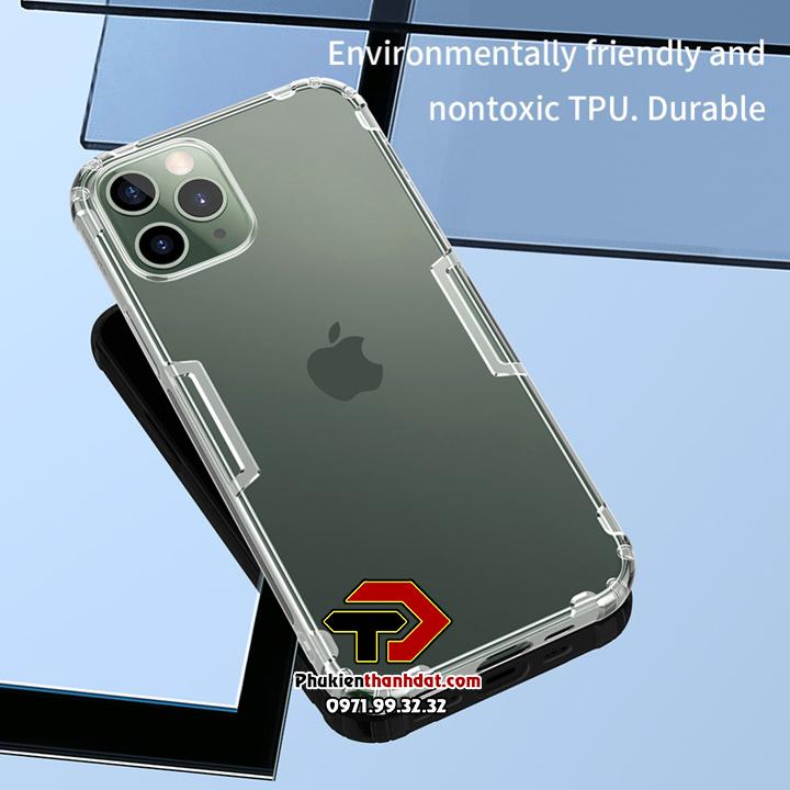 Ốp lưng dẻo trong suốt iPhone 12 Pro chính hãng Nillkin Nature
