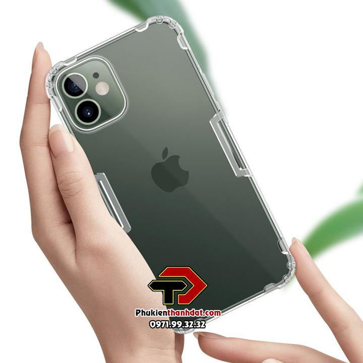 Ốp lưng dẻo trong suốt iPhone 12 Mini chính hãng Nillkin Nature