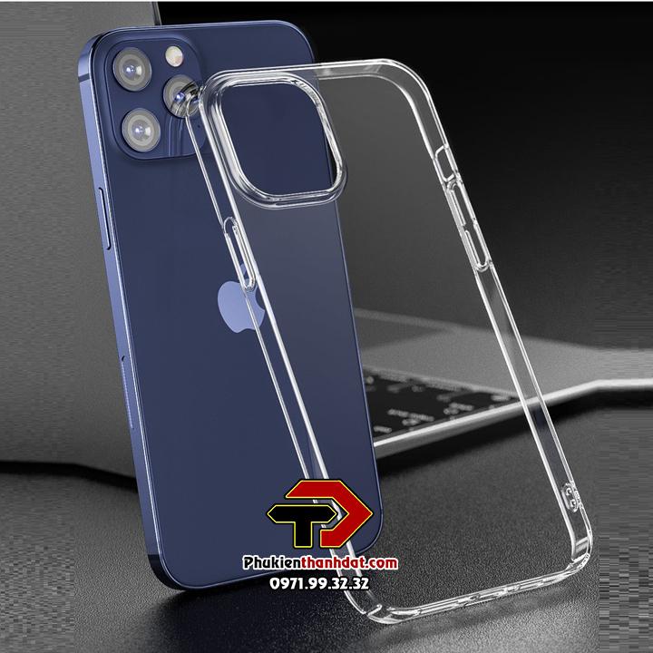 Ốp lưng trong suốt iPhone 12 Pro Max chính hãng Memumi (phủ nano không ố màu)