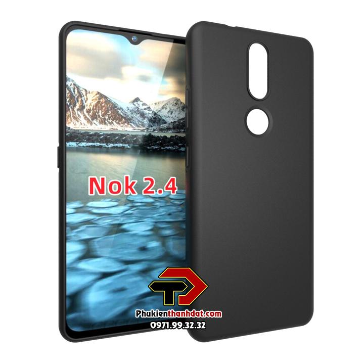 Ốp lưng Nokia 2.4 silicone dẻo màu đen