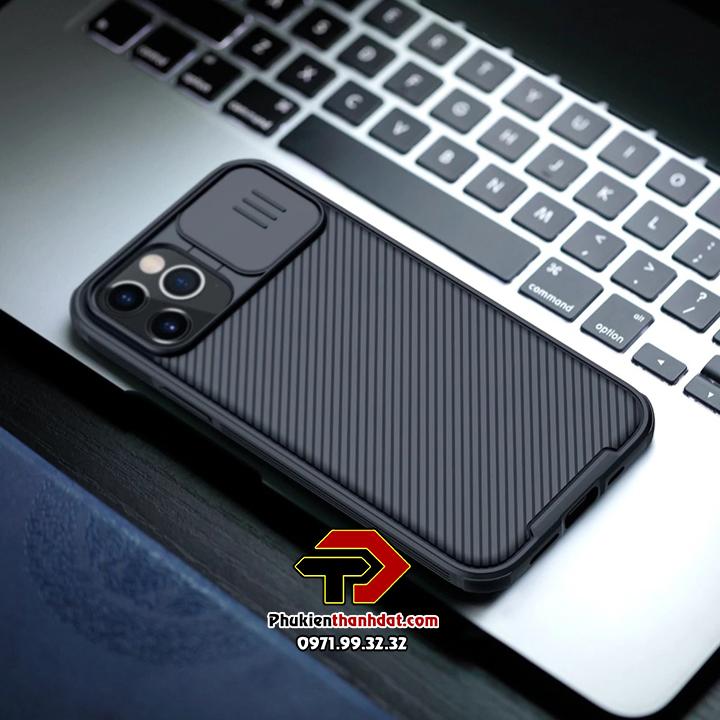 Ốp lưng bảo vệ Camera iPhone 12 Pro chính hãng NILLKIN CamShield