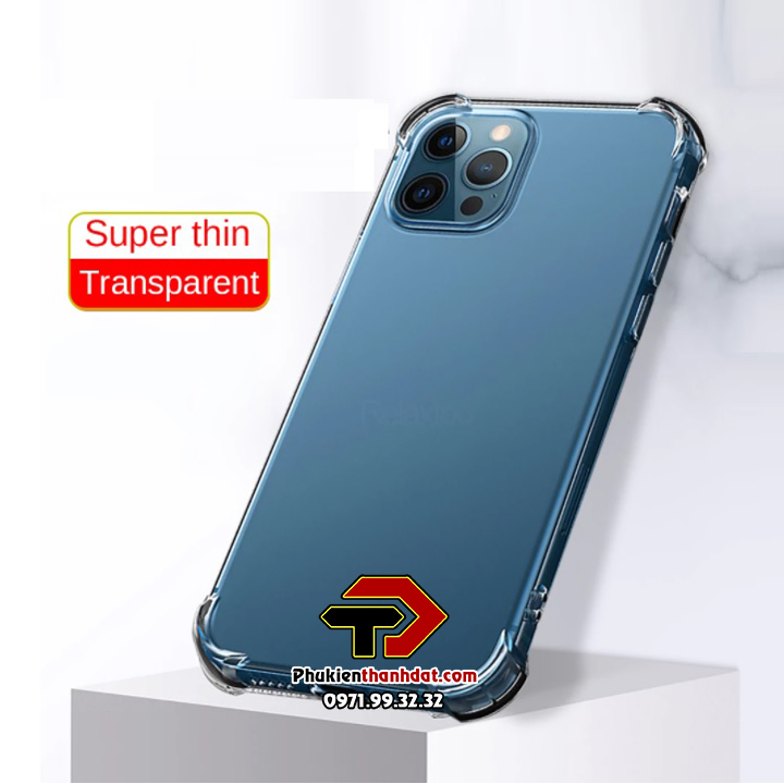 Ốp lưng dẻo trong chống sốc iPhone 12 Pro