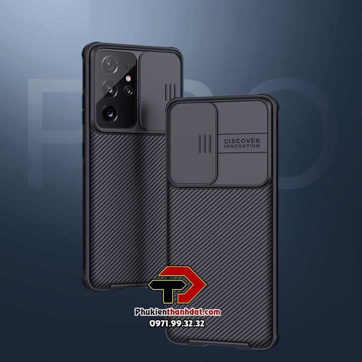 Ốp lưng bảo vệ Camera SamSung Galaxy S21 Ultra chính hãng NILLKIN CamShield