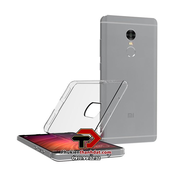 Ốp lưng silicone dẻo trong suốt Xiaomi Redmi Note 4X