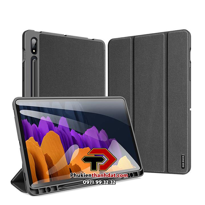 Bao da Samsung Galaxy Tab S7+ Plus T970 chính hãng Dux Ducis Domo