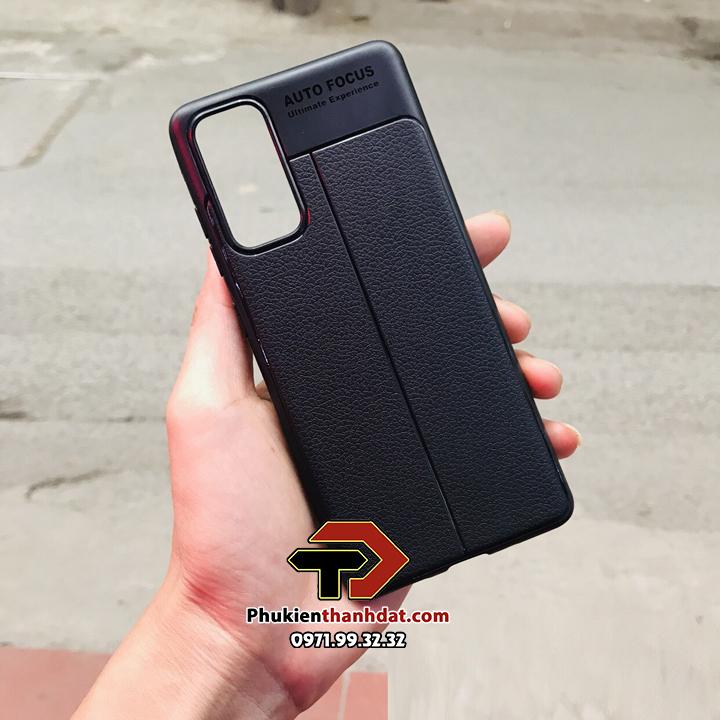 Ốp lưng SamSung Galaxy S20 FE silicon giả da Auto Focus