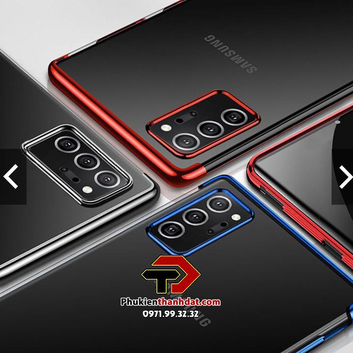 Ốp lưng silicon trong suốt viền màu SamSung Galaxy Note 20 Ultra chính hãng OuCase