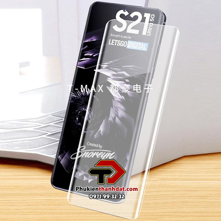 Kính cường lực UV full màn hình Samsung Galaxy S21 Ultra chính hãng T-MAX