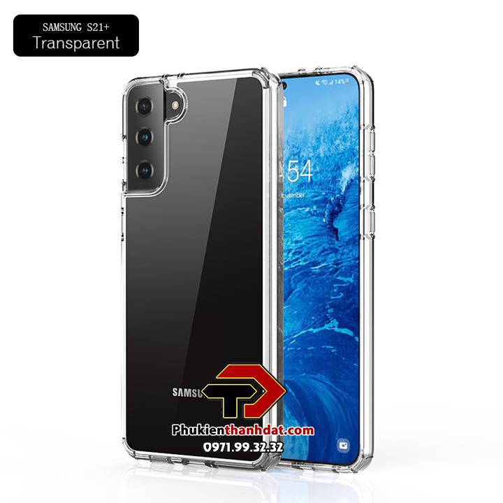 Ốp lưng chống sốc Samsung Galaxy S21+ Plus chính hãng Likgus trong suốt không ố màu