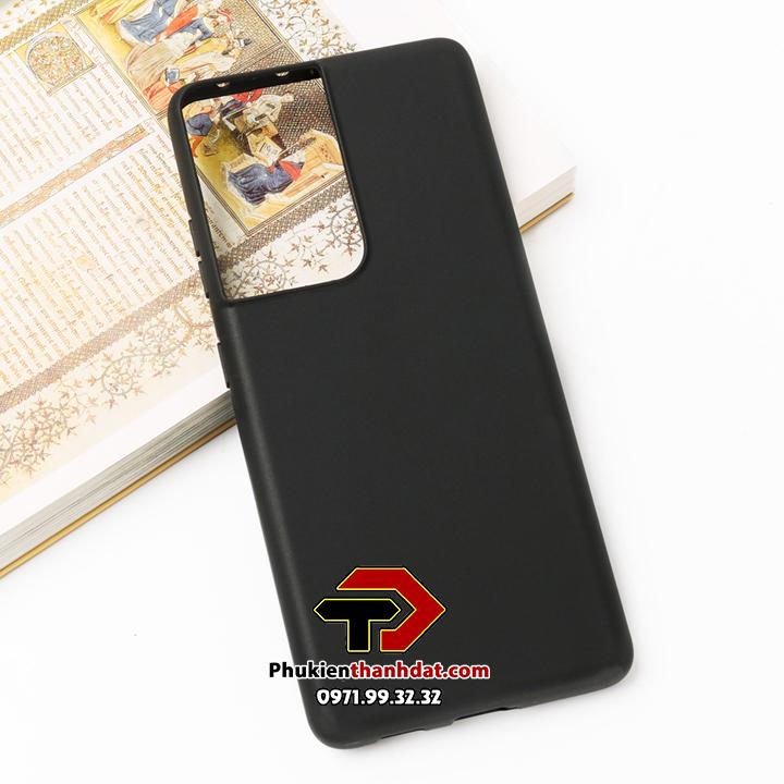 Ốp lưng SamSung Galaxy S21 Ultra dẻo màu đen chống bám vân tay