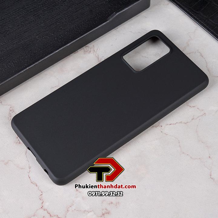 Ốp lưng SamSung Galaxy A52 dẻo màu đen chống bám vân tay