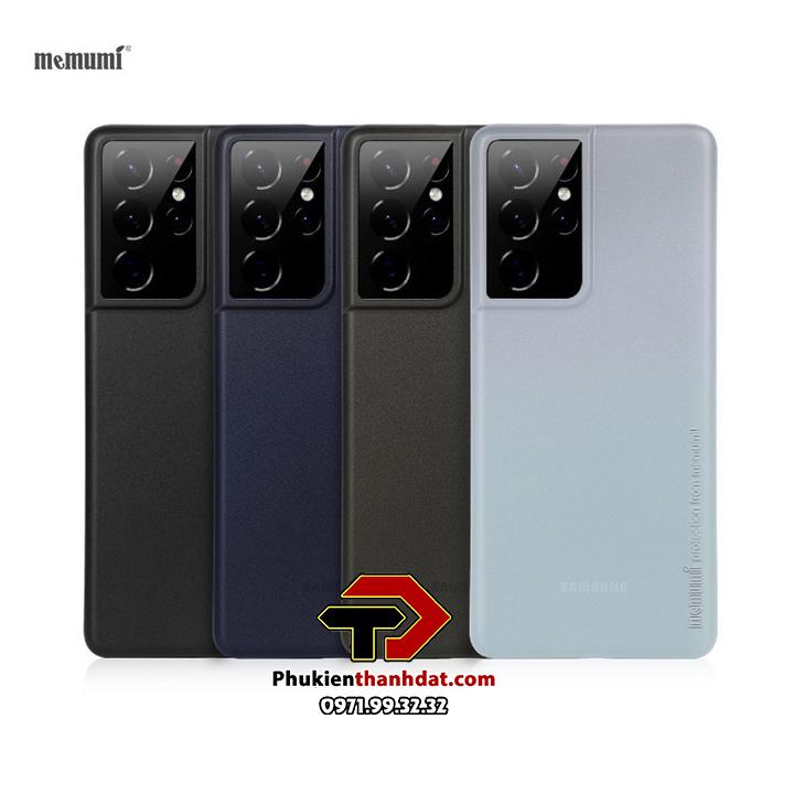 Ốp lưng lụa SamSung Galaxy S21 Ultra chính hãng Memumi siêu mỏng
