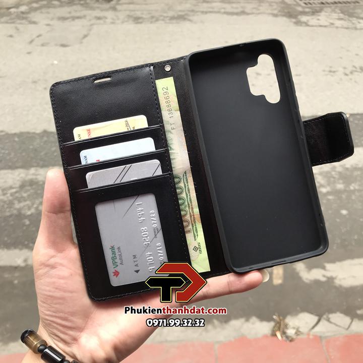 Bao da dạng ví SamSung Galaxy A32 4G hiệu Hanman có quai cài