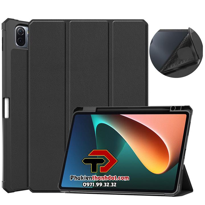Bao da Xiaomi Pad 5 hiệu Leather Smart Case dạng cuộn có khay đựng bút