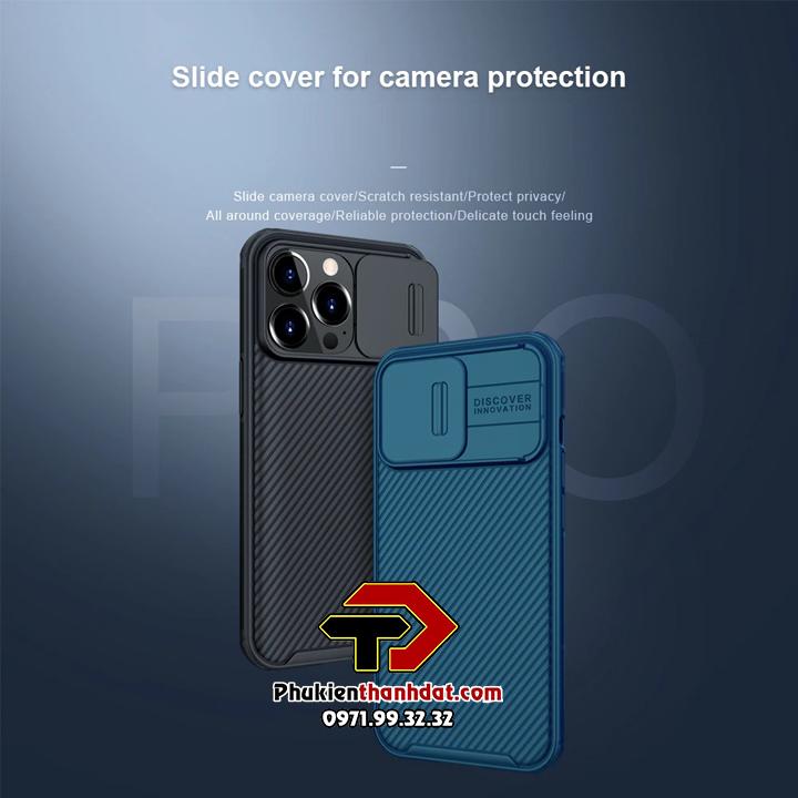 Ốp lưng bảo vệ Camera iPhone 13 Pro chính hãng NILLKIN CamShield
