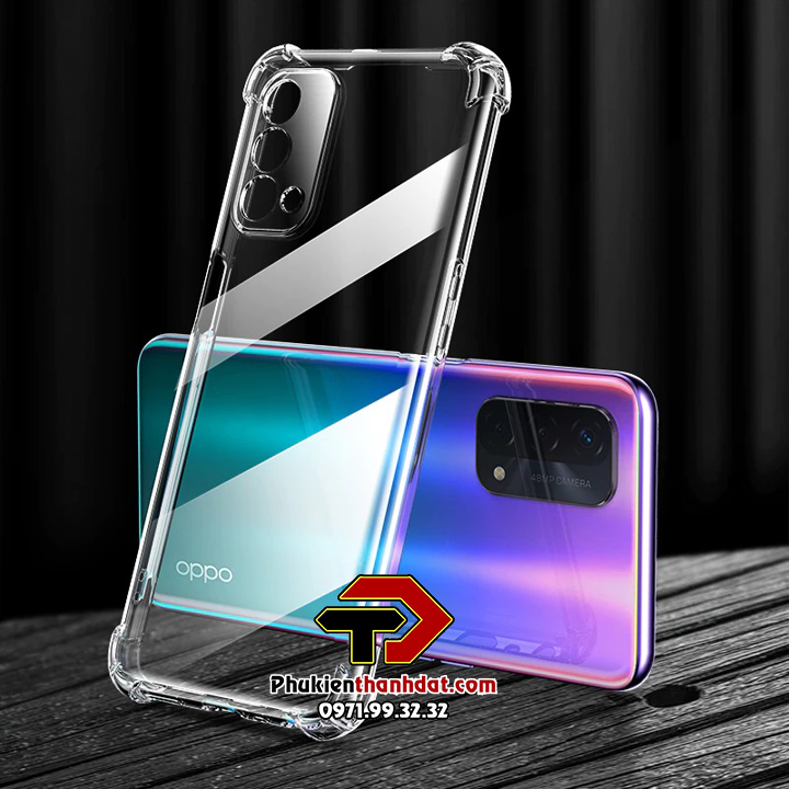 Ốp lưng OPPO A74 trong suốt chống sốc