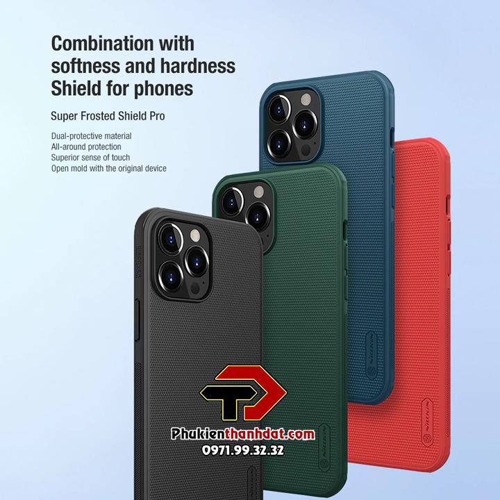 Ốp lưng iPhone 13 Pro chính hãng Nillkin dạng sần