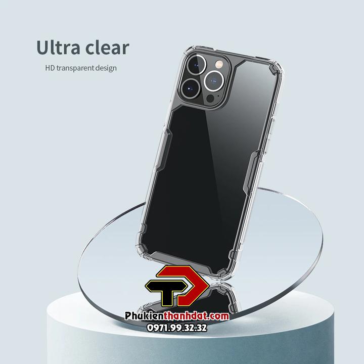 Ốp lưng iPhone 13 Pro Max chính hãng Nillkin Nature TPU Pro Case