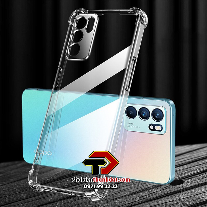 Ốp lưng OPPO Reno6 5G trong suốt chống sốc